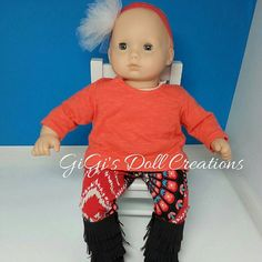 Leggings for 15 inch dolls such as Bitty by GiGisDollCreations