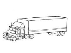 Truck Coloring Pages for Adults Luxury Transport Truck Printable Coloring Page for Truck Coloring Pages, Printable Coloring Pages, Adult Coloring Pages, Coloring Sheets, Road Transport, Car Drawings, Pictogram, Semi Trucks, Stencil