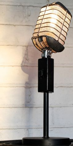 Vintage Microphone Light Fixture Table Lamps