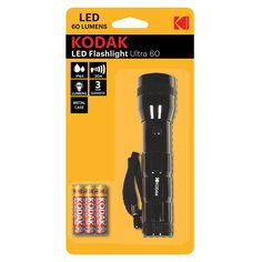 The KODAK LED Ultra 60 is a great flashlight with an aluminium body. Powered by 3 x AAA batteries it provides of light, 60 lumens of brightness with a range. Flashlight, About Uk, Range, Led, Free Shipping, Stuff To Buy, Cookers, Ranges, Range Cooker