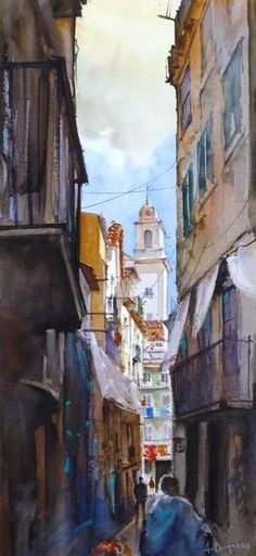 Cityscapes - Watercolour Painter Cityscapes, Watercolour, Portugal, Posters, Painting, Art, Drawings, Pen And Wash, Art Background