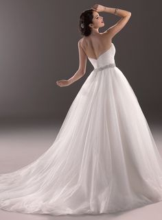 Back of Aleah bridal gown by Maggie Sottero shown in ivory.