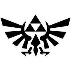 Zelda Triforce Decal ($5) ❤ liked on Polyvore featuring home, home decor, wall art, black, home & living, home décor, wall decals & murals, wall décor, vinyl wall decals and black wall art