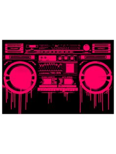 Melting Boombox Red by Mister Hysteria at Gilt