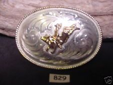 BULL RIDER Alpaca Silver Hand Engraved Cowboy Belt Buckle MAKE OFFER & FREE SHIP $55.00 or Best Offer Free shipping