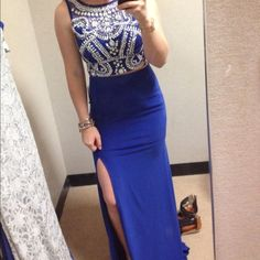 Blue 2-piece prom dress (ON SALE TODAY ONLY!!!) Size 6, only worn once, like brand new! Dresses Prom