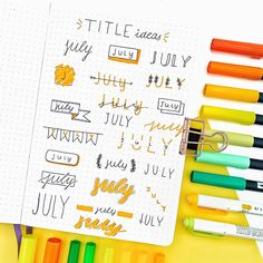 15 Bullet Journal Header Ideas To Try Out In 2020 | Here are best