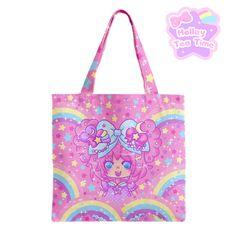 ☆ Bubbles Rainbow Land Tote Bag ☆ Decora kei ☆ Fairy kei ☆ Pop kei ☆ Harajuku