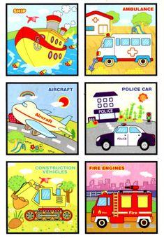 Кубики склеить по меткам и собирать картинку из девяти кубиков. Работа авторская, перепост запрещен. СКАЧАТЬ Fire Engine, Police Cars, Ambulance, Engineering, Vehicles, Activities, Plants, Car, Technology