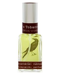 Poe's Tobacco by Tokyo Milk Parfumarie Curiosite is a sweet, green Oriental Spicy fragrance that features tobacco, tea, red apple, woodsy notes and amber. - Fragrantica