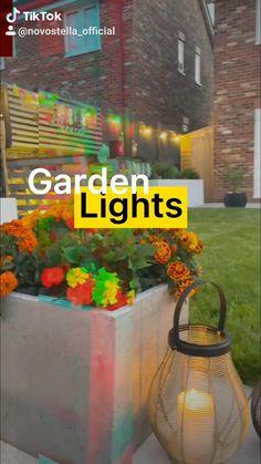 Outdoor Projects, Garden Projects, Smart Lights, Small Garden Design, Outdoor Lighting, Plants, Diy Wedding Decorations, Wedding Decoration, Fiestas