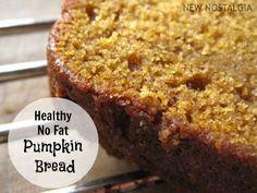 Healthy No Fat Pumpkin Bread