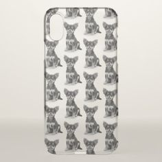 Cute Fluffy Chihuahua Puppy Pattern iPhone X Case - dog puppy dogs doggy pup hound love pet best friend