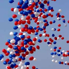 Red white & blue balloons