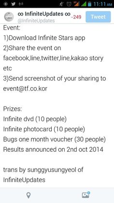 [TRANS] Infinite Stars App Release Commemorative Event pic.twitter.com/niTXFJyLNG