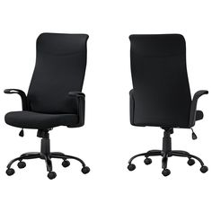 Product condition: NewSleek and contemporary, this black BIFMA certified office chair brings a simple chic look to any office space. Upholstered in a durable and breathable polyester fabric, this multi-position high back office chair, with a 360-degree swivel, has a convenientCase Pack: 1Color: BlackMaterial: Foam, Metal, Nylon, Plastic, PolyesterNumber Of Cartons: 1 Office Chairs For Sale, High Back Office Chair, Best Office Chair, Black Office Chair, Home Office Space, Home Office Decor, Office Ideas, Conference Room Chairs, Chair Types