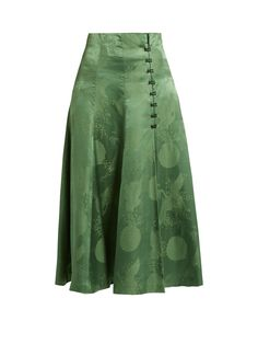 Click here to buy Rosie Assoulin A-line satin midi skirt at MATCHESFASHION.COM