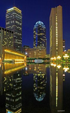 The Prudential Center is a lovely sight at night. (Boston's Best Cruises)
