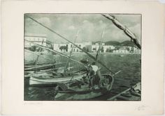 Títol: San Antonio (Ibiza). Autor: Joaquim Pla Janini. 1942. Mides: 50,5 x 71 cm. Bromoli transportat. MMB 74006F San Antonio, Marines, Ibiza, Photography, Painting, Art, Authors, Fishing, Photos