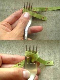 Fiocchi perfetti con una forchetta