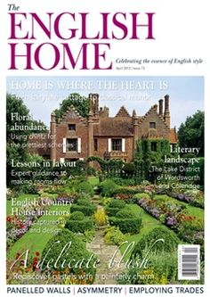 English Home.  This is my favorite magazine, ever!  Where else can you get ads for Aga stoves and charming lavender candles (a steal a some-ought pounds) and articles about refurbished cottages and the correct way to hire kitchen help?