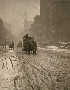 Winter on Fifth Avenue, New York   1893 - Alfred Stieglitz