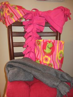 Do-It-Yourself: Homemade Fleece Scarves and Hats
