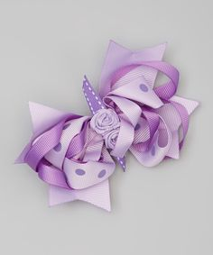 Look what I found on #zulily! Purple Rose Center Bow by Bubbly Bows #zulilyfinds