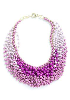 Statement of the Art Necklace in Purple