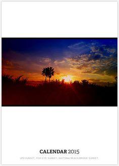 UFO SUNSET, FISH EYE SUNSET, DAYTONA BEACH BRIDGE SUNSET,