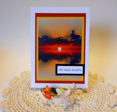 Sunset Sympathy Card Sympathy Card by HDPaperBoutique on Etsy