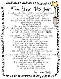 Teacher's Prayer, Promise, and Polish