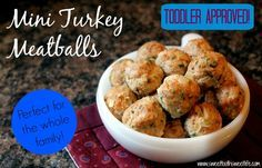 Mini Turkey Apple Meatballs - Perfect for the whole family and toddler approved! | Sweet Tooth, Sweet Life