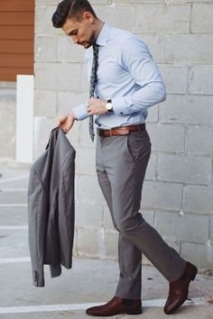Nice 46 Stylish Formal Men Work Outfit Ideas To Change Your Style. - Adrianna Torres Nice 46 Stylish Formal Men Work Outfit Ideas To Change Your Style. Mens Business Casual Shoes, Trajes Business Casual, Men's Business Outfits, Office Outfits, Casual Office, Men Casual, Business Men, Business Formal, Mens Business Clothes