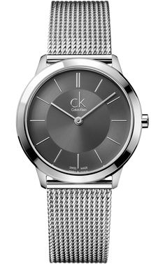 Calvin Klein Minimal Grey Dial Gents Watch Gents Calvin Klein ck Minimal  watch in high-shine stainless steel d57f770698