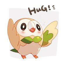 Rowlet hug