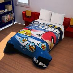 "Angry Birds ""Shooting For The Stars"" Plush Raschel Twin Blanket 60""x80"" by GTP. Save 48 Off!. $31.38. Super Soft, Cozy, and Warm. Machine Washable. 60""x80"". Twin Size. Officially licensed Product. Brand new officially licensed Angry Birds plush twin size blanket. Super soft and very thick! It is made of 100% polyester, and is machine wash, tumble dry low. This is a BEAUTIFUL blanket! It is a great gift idea for the Angry Bird fan on your gift list, or get it for yourself! It measures..."