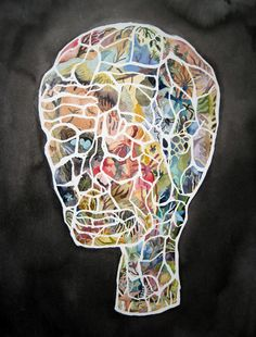 It would be cool to trace the silhouette of the student's head and then have them complete it as they wish! Painting Lessons, Art Lessons, School Painting, Art Curriculum, 2d Art, Art Lesson Plans, Teaching Art, Art Education, Portrait Ideas