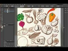 Drawing vector pattern in Adobe Illustrator CS6. - YouTube