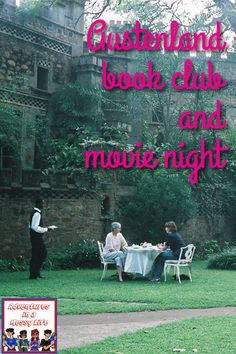 Austenland book club and movie night Austenland Movie, Emma Book, Cookies Branding, Pride And Prejudice Book, Movie Talk, Movie Covers, Fantasy Books, Book Lists, Real Life