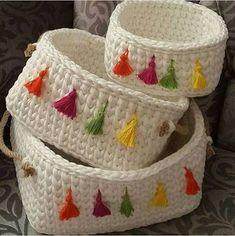 Wicker and crochet basket making Crochet Diy, Diy Crochet Basket, Crochet Bowl, Crochet Storage, Crochet Basket Pattern, Crochet Motifs, Crochet Diagram, Crochet Gifts, Crochet Patterns
