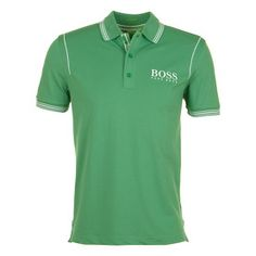 """Polo vert """"HUGO BOSS"""" Guy Outfits, Casual Outfits, Men Casual, Polo Shirt, T Shirt, Hugo Boss, Polo Ralph Lauren, Mens Tops, Cotton"""