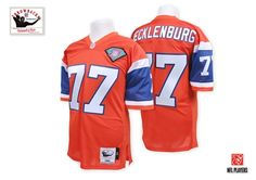 a4c46fc50 Mitchell And Ness Denver Broncos Karl Mecklenburg Orange With Patch  Authentic Throwback NFL Jersey Sale