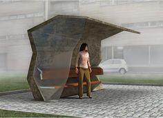 Bus Stop Shelter Design Images & Pictures Bike Shelter, Bus Shelters, Urban Furniture, Street Furniture, Furniture Design, Dynamic Architecture, Architecture Design, Bus Stop Design, Sustainability Projects