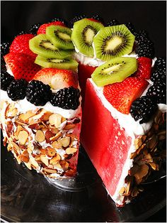 Paleo Watermelon Cake = Ingenious   http://www.ivillage.com/amazing-ways-eat-watermelon/3-a-538918