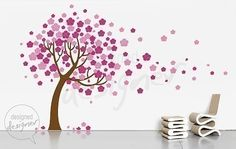 As promised, I have the first shots of my (mostly) completed cherry blossom tree mural!    Now, there are tons of cherry blossom tree mural...