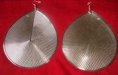 Large Dazzling Teardrop Dangle Silver Gold-Plate Earrings