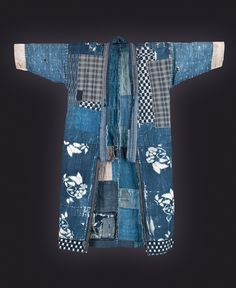 Japanese Antique Textile - Boro: a japanese term for mending and patched cloth. Kimono