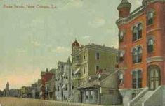 Storyville Postcard, Down the Line. Mahogany Hall is on the far right. The Arlington is the yellow building with cupola
