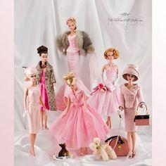 Barbie dolls in pink
